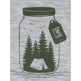 super.natural Graphic T-shirt Homme, ash melange/millitary go camping